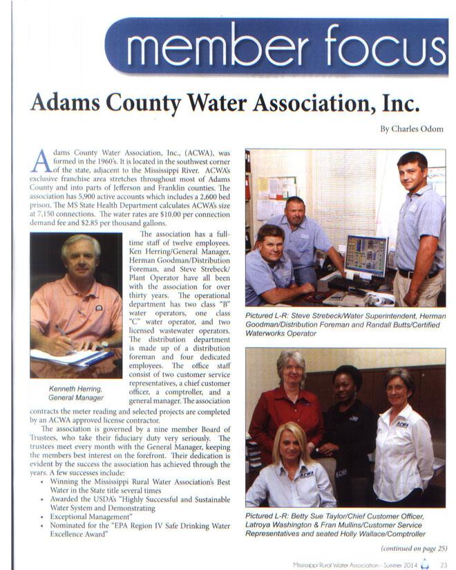 Rural Water Association Magazine P2